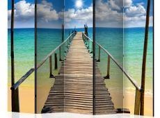 Paraván - Beach, sun, bridge II [Room Dividers]